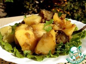 Рецепт Гарнир из картофеля и баклажанов