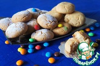 Рецепт: Хрустящее печенье с шоколадными драже