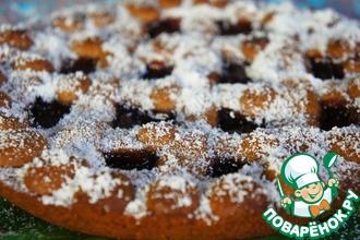 Рецепт: Пирог с малиновым джемом и корицей