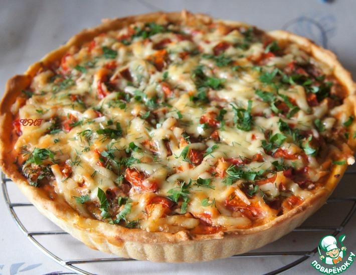 Рецепт: Открытый мясной пирог