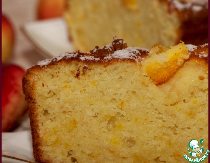 Рецепт: Апельсиновый кекс на йогурте