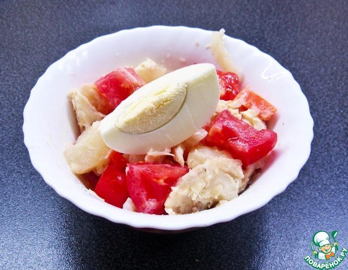Рецепт: Салат из морского окуня