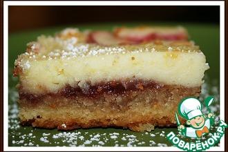 Рецепт: Десерт Малиново-персиковое наслаждение