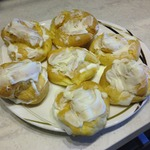 Пирожные Шу со сливочно-творожным кремом