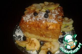 Рецепт: Яблочный пляцок (пирог)