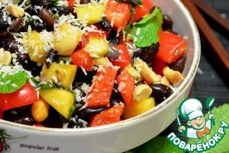 Рецепт: Салат из черной фасоли в азиатском стиле