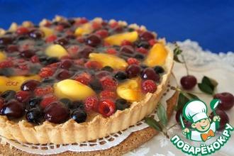 Рецепт: Сметанный тарт со свежими ягодами