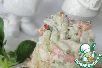 Рецепт: Тартар из форели с овощами