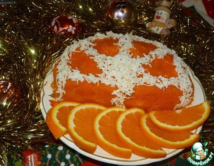 Рецепт: Салат Апельсиновая долька