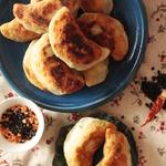 Рисовые пирожки с чечевицей и креветками