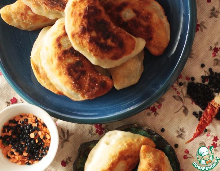 Рецепт: Рисовые пирожки с чечевицей и креветками