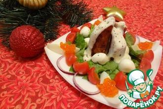 Рецепт: Тёплый салат По-щучьему велению