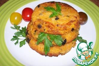 Рецепт: Котлетки из чечевицы с томатами и изюмом