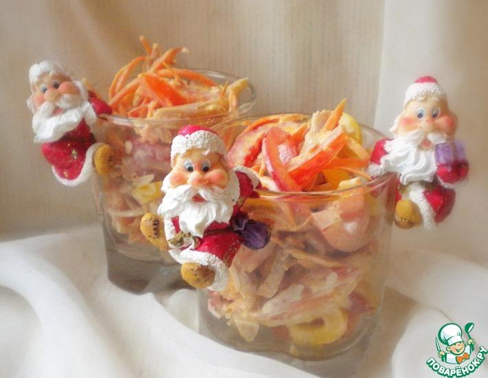 Рецепт: Салат для Деда Мороза