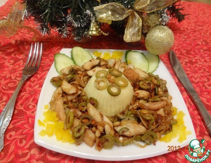 Рецепт: Осьминог Рождественский