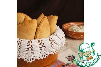 Рецепт: Пирожки из песочного теста с чечевицей и шпинатом
