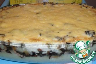 Рецепт: Картофельная запеканка с грибами Для любимого мужа