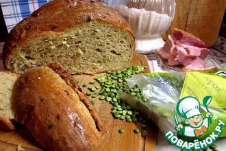 Рецепт: Хлеб гороховый с беконом и луком