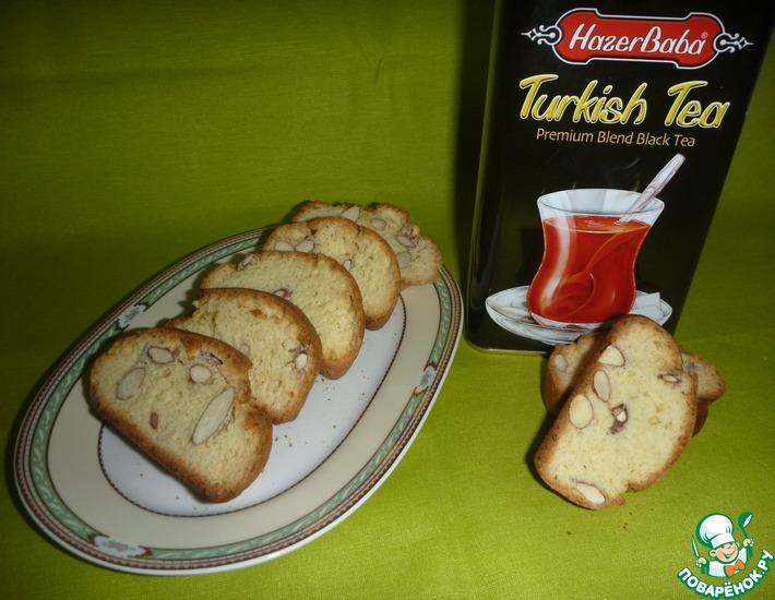 Рецепт: Миндальное печенье Кантуччи
