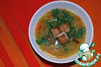 Рецепт: Суп гороховый с копченой уткой