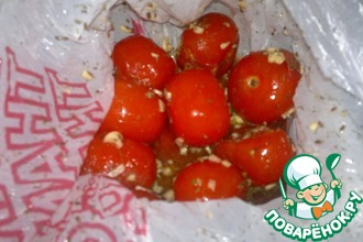 Рецепт: Соленые помидоры быстрые в пакете