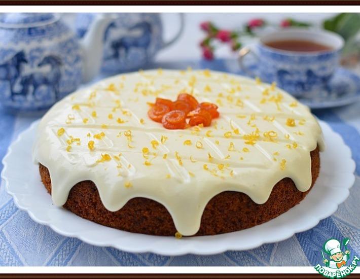Рецепт: Морковный пирог с лимонным кремом