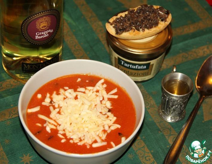 Рецепт: Суп томатный Паппа аль помодоро