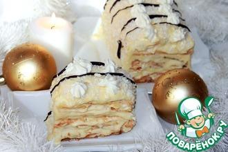 Рецепт: Торт-мороженое Подарок Снежной королевы
