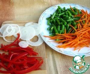 Маринованная стручковая фасоль с овощами – кулинарный рецепт