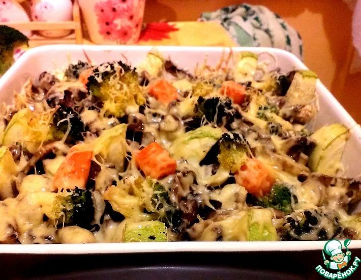 Рыба с грибами в духовке - пошаговый рецепт с фото на Повар.ру | 550x710