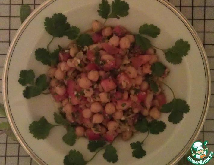 Рецепт: Салат Хумус-хяте