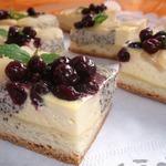 Творожно-маковый пирог с грушами
