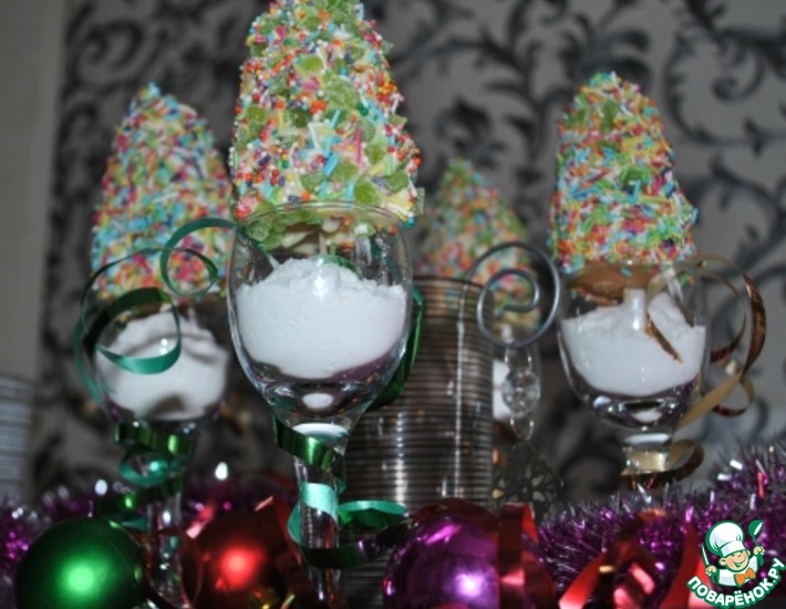 Рецепт: Кейк-попсы Новогодняя елочка