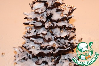 Рецепт: Новогодняя елочка из заварного теста