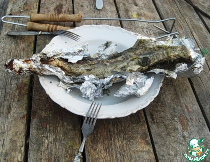 Рецепт: Рыбка на костре