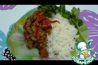 Рецепт: Мясо по японски в мультиварке