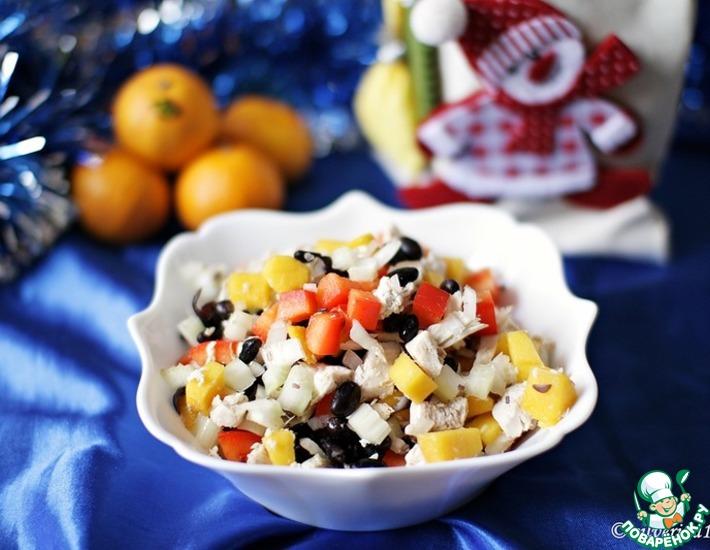 Рецепт: Салат с курицей и манго