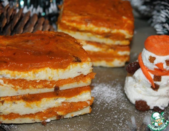 Рецепт: Творожно-яблочно-морковный десерт