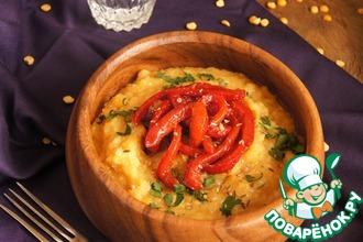 Рецепт: Гороховое пюре с печёным перцем
