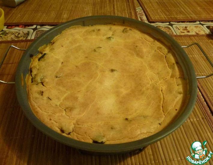 Рецепт: Наливной пирог в СВЧ Птичка в баклажанах