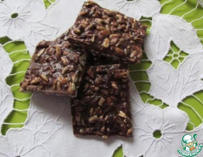 Шоколадные квадратики с семечками