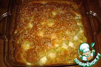 Рецепт: Пирог с сыром и укропом