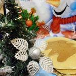 Блины Новогодний завтрак с рисунком