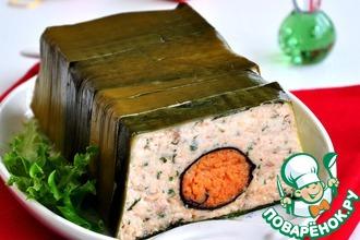Рецепт: Террин из лосося с креветками