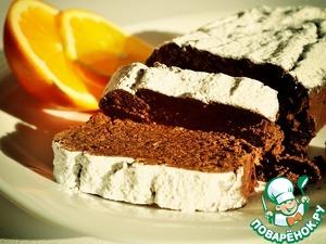 Рецепт: Шоколадно-апельсиновый пирог из фасоли