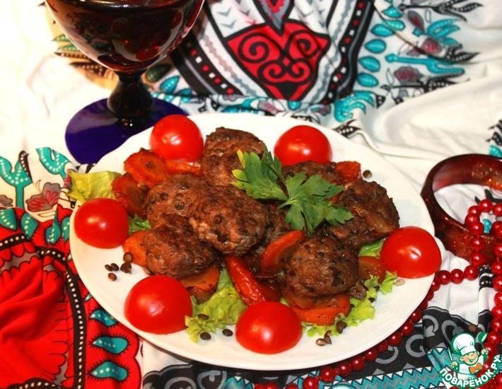 Рецепт: Арабские тефтельки из баранины в винном соусе