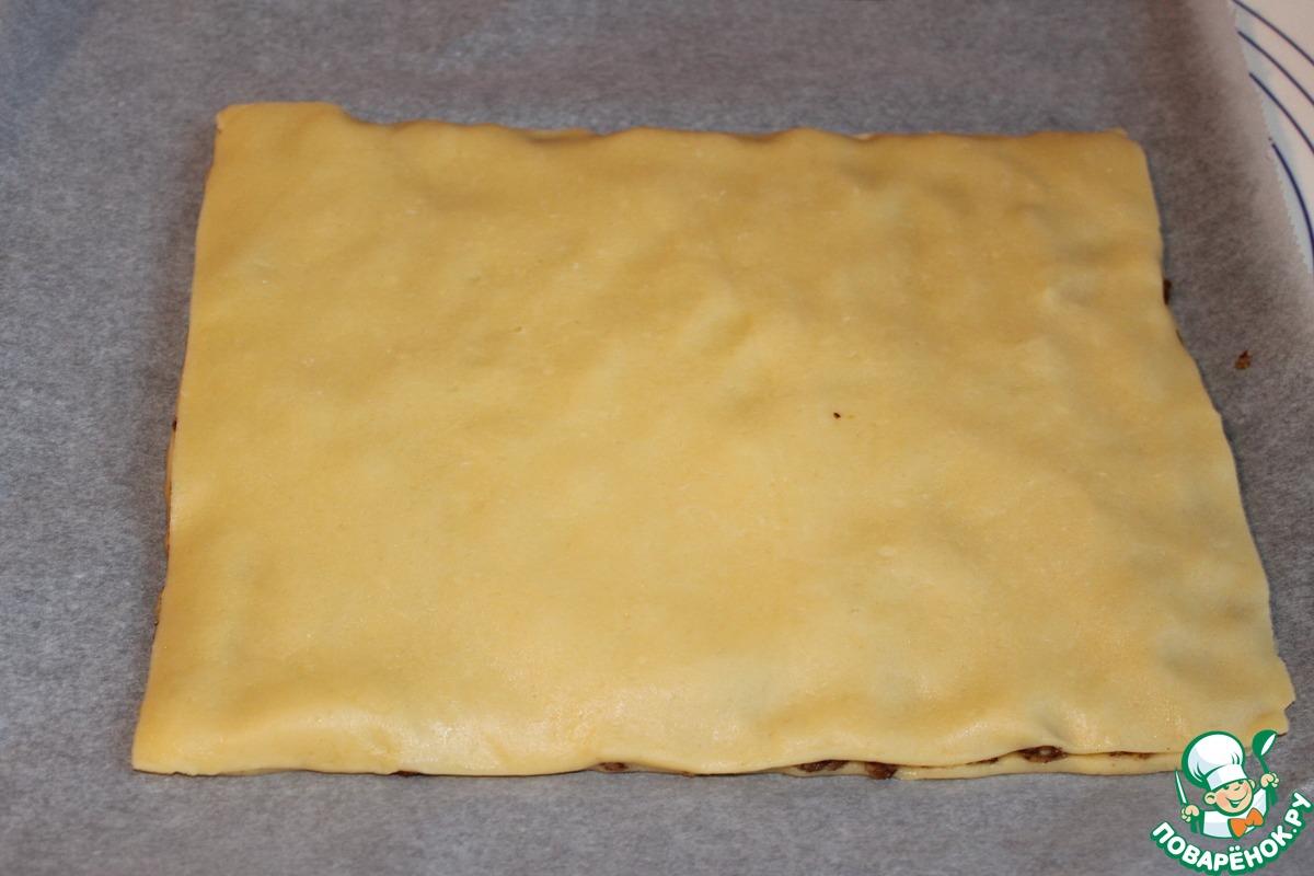 """Печенье """"Ромбики"""" с ореховой начинкой"""