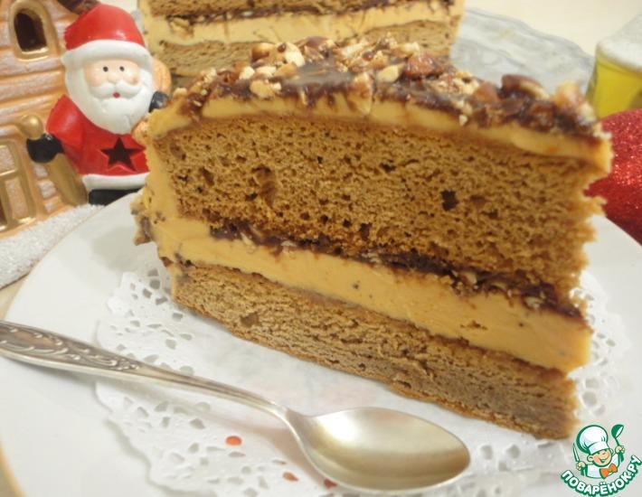 Рецепт: Миндально-медовый торт