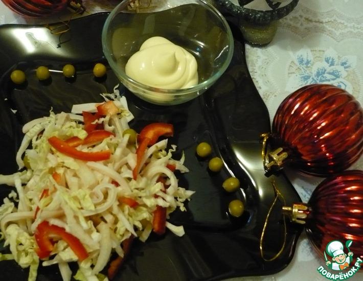 Рецепт: Салат Кальмарчик