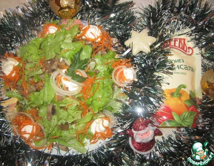 Рецепт: Салат из языка с морковью по-корейски